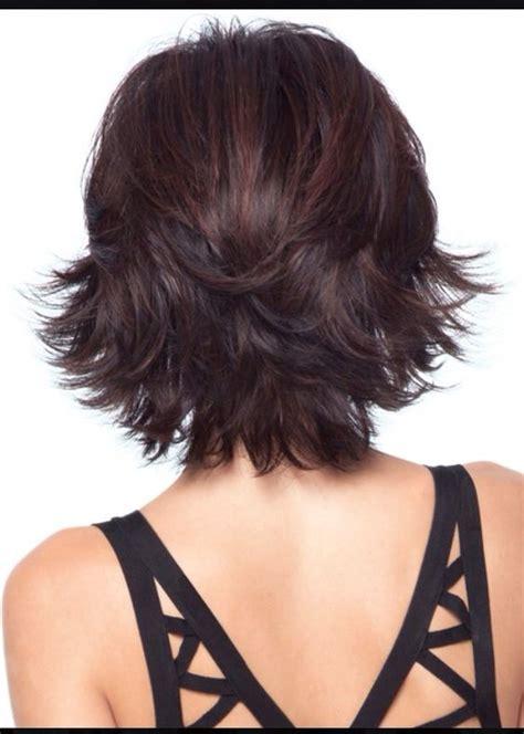shouldee length upside down shag back view of a great short hair cut hair pinterest