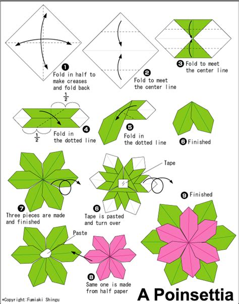 Advanced Origami Flower - origami vase diagram html origami free engine image for