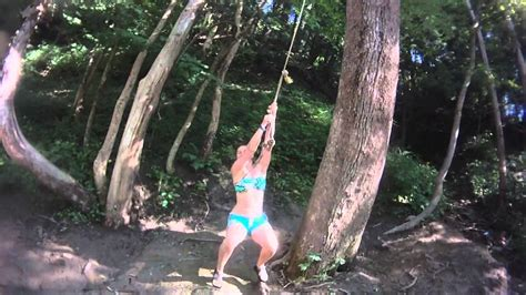 rope swing youtube rope swing on mohican river youtube