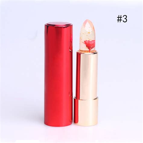 Flower Jelly Lipgloss fashion jelly flower lipstick color changing lasting
