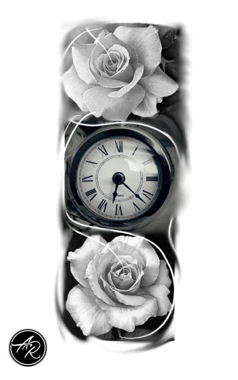 pocket watch and rose tattoo design best 25 clock tattoos ideas on time clock