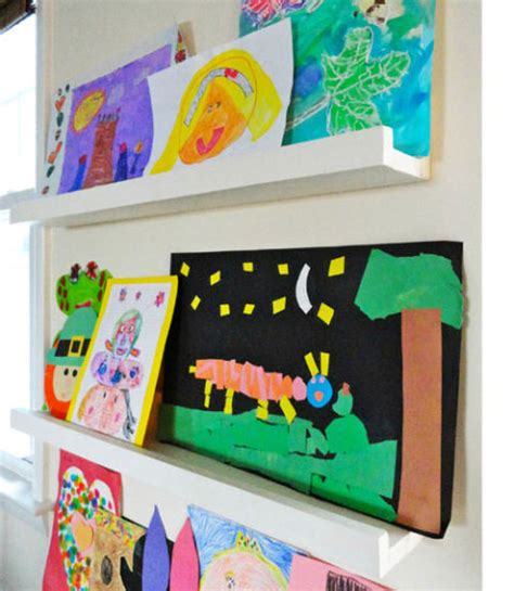 ikea ribba ledge picture display ledge you get 1 black 7 clever ways to display kids artwork by design