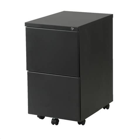 2 Drawer Black Metal File Cabinet by Eurostyle Gordon 2f 2 Drawer Mobile Metal Filing Cabinet