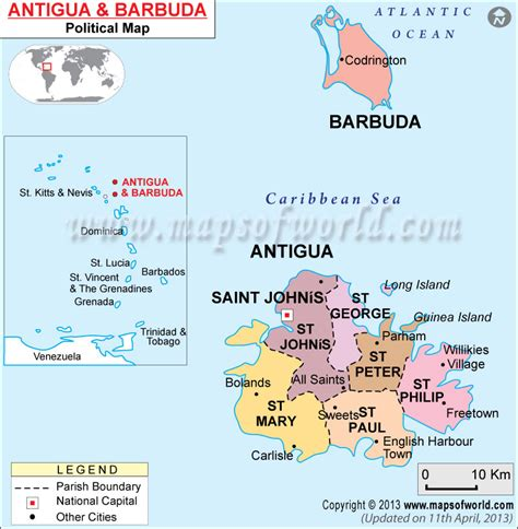 printable road map of antigua political map of antigua and barbuda antigua and barbuda
