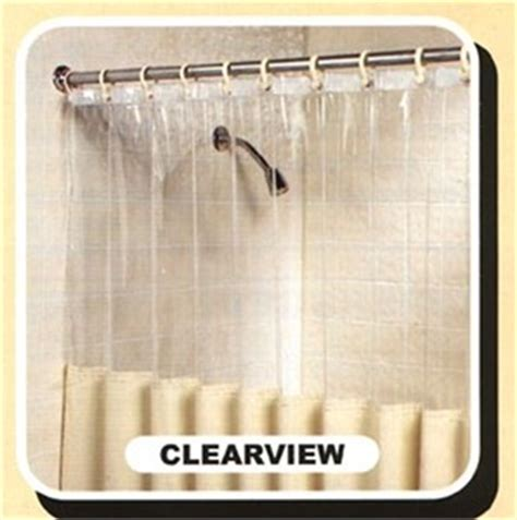 shower curtain clear top mildew resistant shower curtain with clearview top