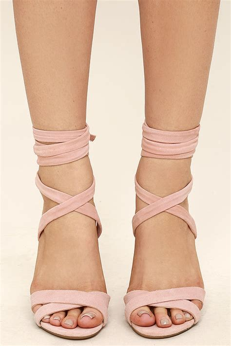 light pink tie up heels steve madden christey pink heels lace up heels 109 00