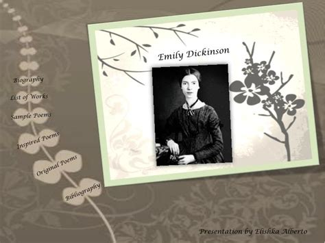 emily dickinson biography ppt ppt emily dickinson powerpoint presentation id 1560162