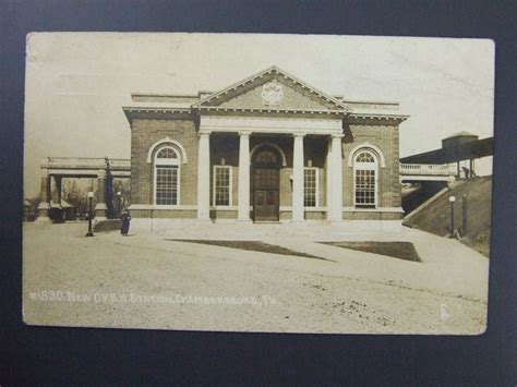 Post Office Chambersburg Pa by Details About Cvrr Railroad Station Chambersburg Pa