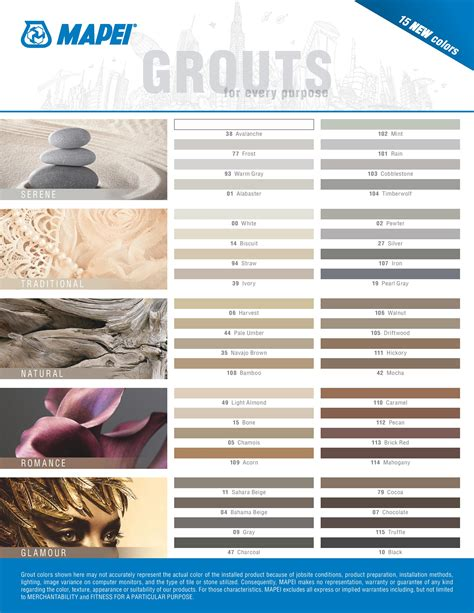 mapei grout color chart www tileexperience co uk content