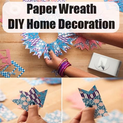 Paper Things To Make At Home - paper wreath a diy home decoration diy home things