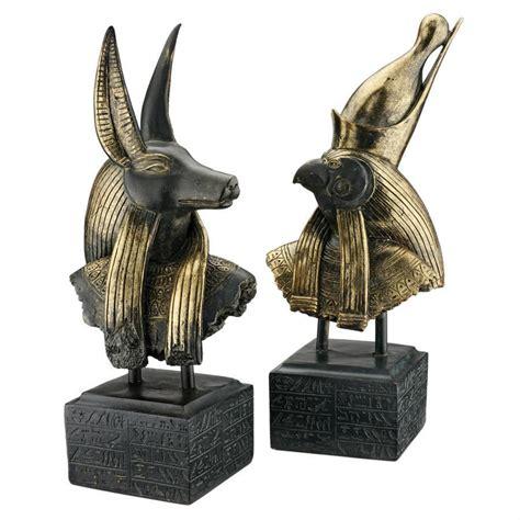 home sculptures gods of ancient egypt sculptures anubis and horus