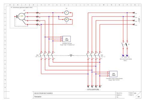schema cablage inverseur groupe electrogene sch 233 ma inverseur automatique groupe 233 lectrog 232 ne tracteur
