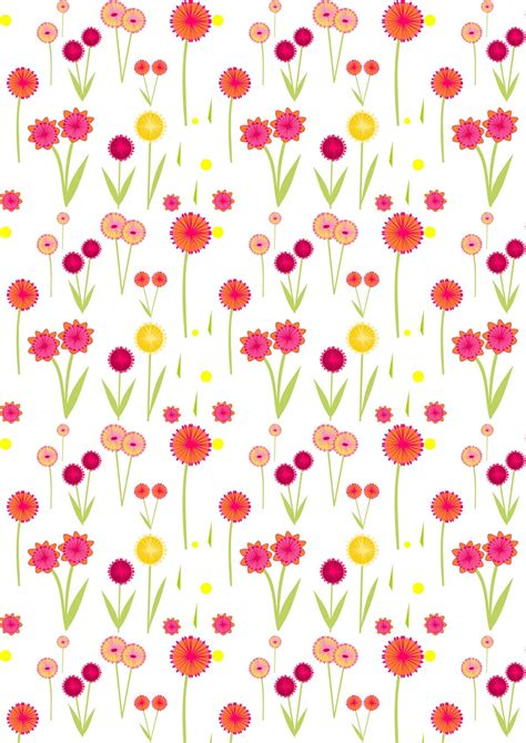 printable wrapping paper floral free digital flower scrapbooking paper ausdruckbares