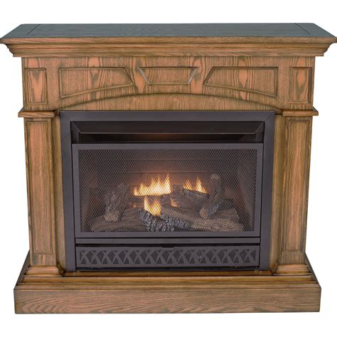 Dual Fuel Fireplace by Product Procom Vent Free Dual Fuel Fireplace 26 000 Btu