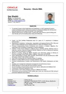 Oracle Dba Cv by Ijaz Oracle Dba Resume Updated