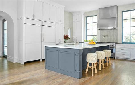 Blue Kitchen Island Slate Blue Island White Kitchen Cabinets White And Blue Kitchen Decorating Ideas White