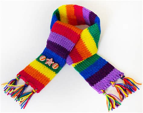 stripy rainbow eco scarf for children s colourful