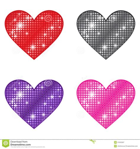 imagenes de corazones que brillen corazones que brillan fotograf 237 a de archivo libre de