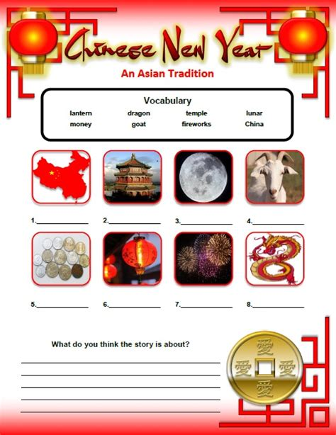 new year food worksheets lunar new year activities and worksheets for