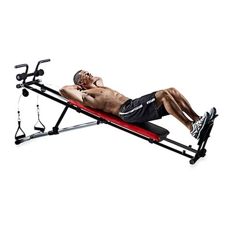 weider exercise bench weider 174 ultimate body works adjustable incline exercise