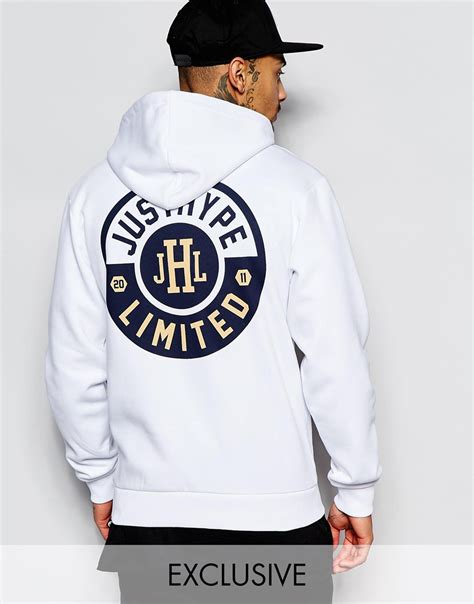 Hoodie Anonymous Back Print Cloth hype hoodie with back print in white for lyst