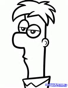 How to draw ferb easy step by step disney characters cartoons draw