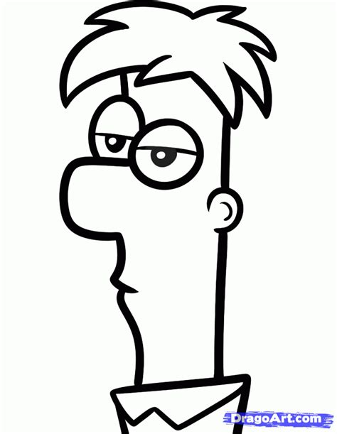 how to draw a easy how to draw ferb easy step by step disney characters draw
