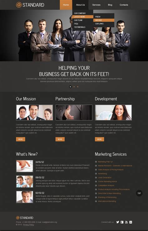 drupal themes live demo marketing agency drupal template 42847