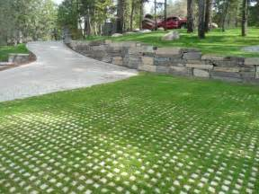 driveways with grass and pavers