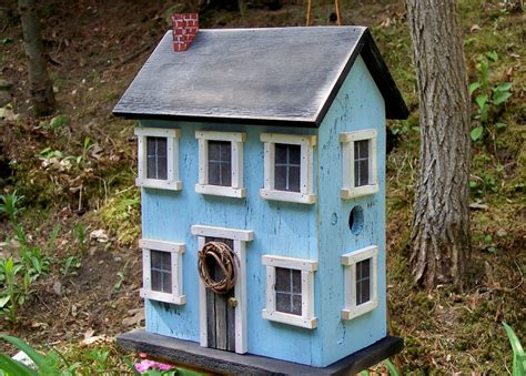 birdhouse home decor primitive rustic garden decor photograph folk art rustic c
