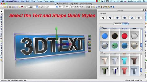 3d text design software free 3d maker for mac create 3d text logo title animation and effects