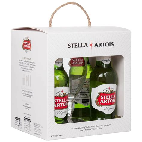 stella artois beer chalice glass gift set gifts