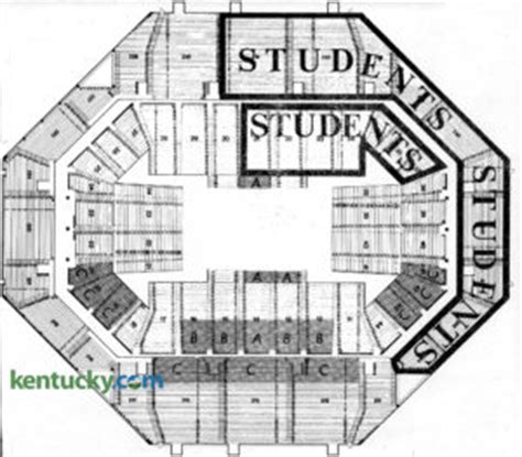 rupp arena floor plan of kentucky basketball kentucky photo archive