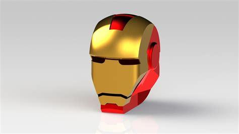 printable iron man helmet iron man helmet free 3d model 3d printable ige igs iges