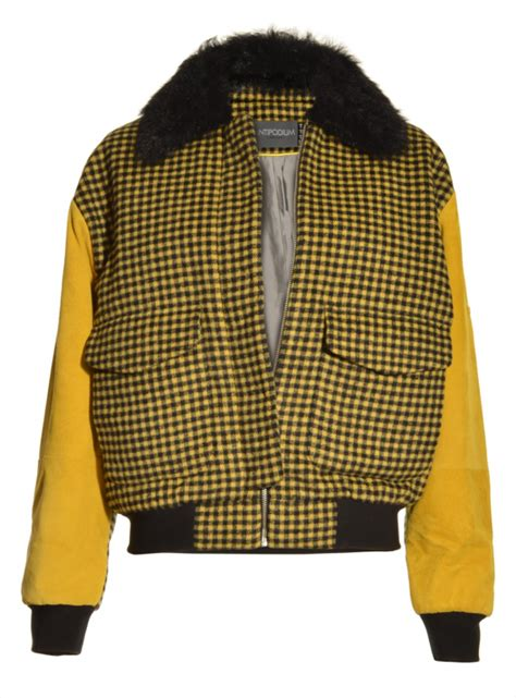 Outer Coat Jaket Wanita Outerwear Bomber Mustard concorde bomber in mustard wool by antipodium outerwear jackets designers