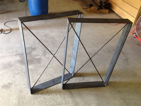 metal x table legs rustic table legs square metal industrial frames custom