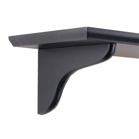 knape vogt 7 in black wood decorative shelf corbel 0138