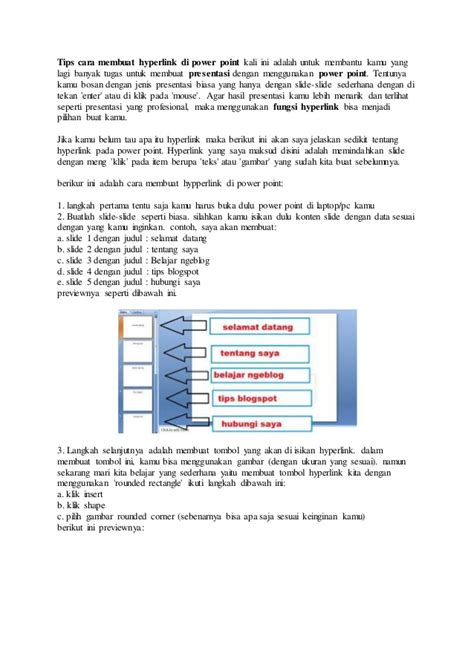 cara membuat oralit adalah tips cara membuat hyperlink di power point kali ini adalah