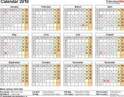 United Kingdom Uk Kalender 2018 Excel Calendar 2018 Uk 16 Printable Templates Xlsx Free