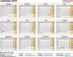 Turkey Kalendar 2018 Calendar 2018 Uk 16 Free Printable Word Templates