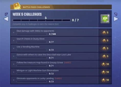 fortnite week 5 challenges fortnite season 4 week 5 challenges fortnite insider