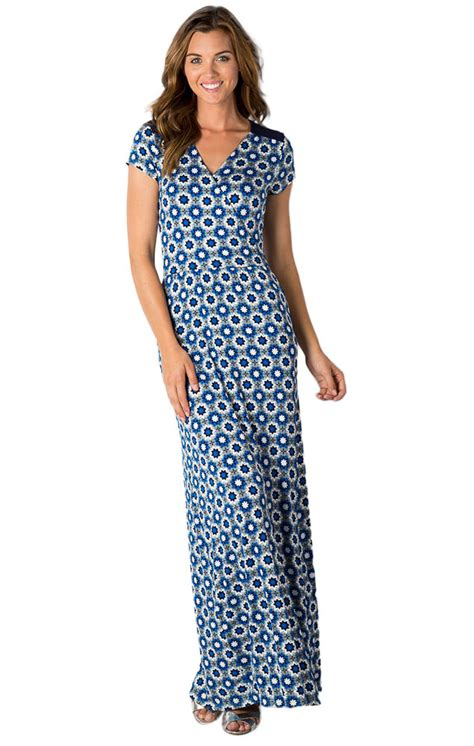 Modest Maxi Dresses by Modest Dresses Al Fresco Dress In Monument Confetti