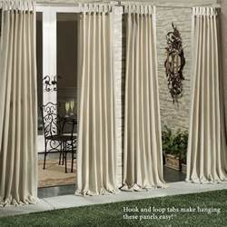 Weatherproof Curtains Matine Indoor Outdoor Tab Top Curtain Panels