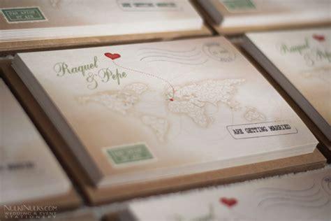 wedding invitations travel theme uk s journey vintage map travel theme real weddings