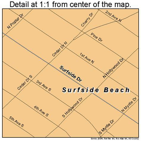 surfside map surfside south carolina map 4570585