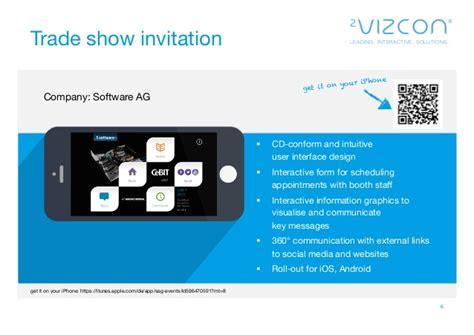 2vizcon event the interactive application for trade