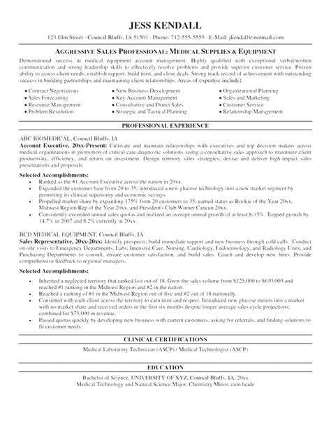 free sle resumes free sle resume template 28 images 10 sales resume
