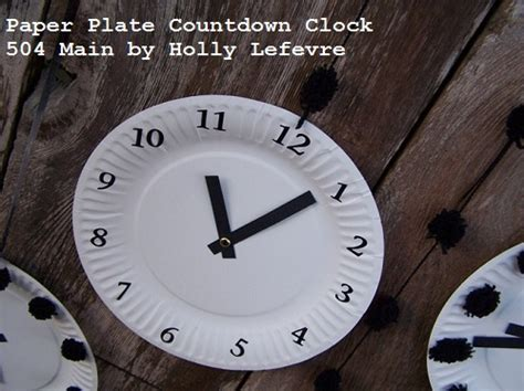 Make A Paper Clock - 504 by lefevre countdown to the new year