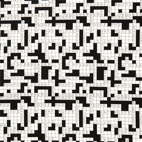 Upholstery Material Crossword Clue by Black White Crossword Puzzle Fabric By Henry