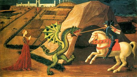 saint george and the dragon st george and the dragon by uccello paolo